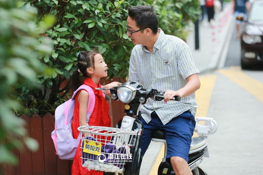 杭州中小学迎来开学季