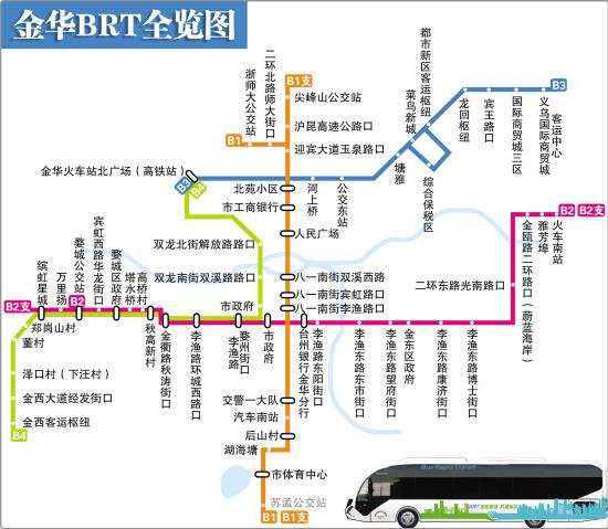 金华BRT3号线30日试运营 往来义乌 金华,如何乘车图片