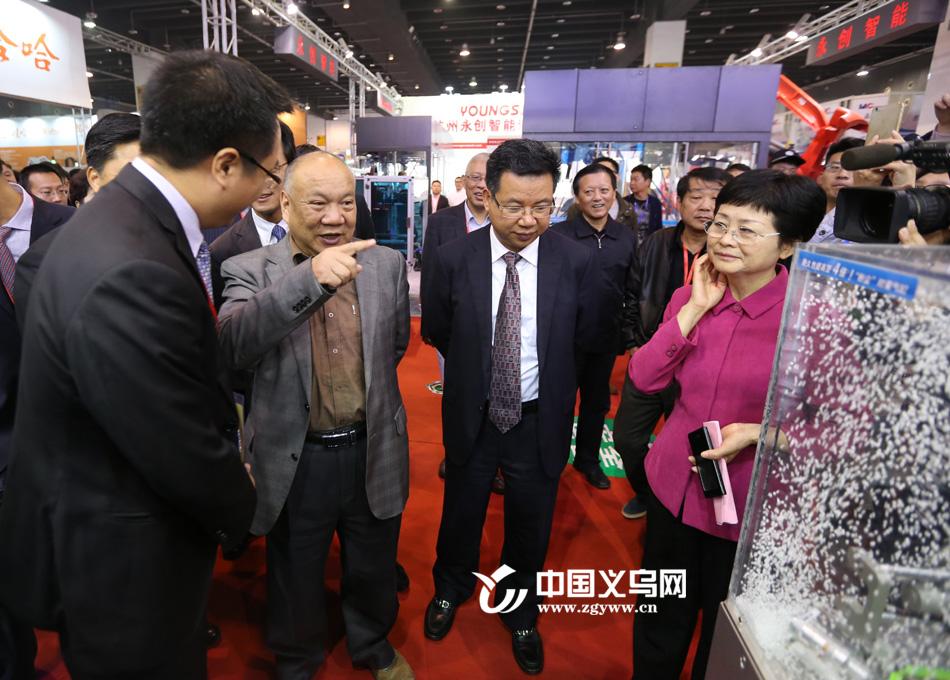 领导和贵宾参观装博会