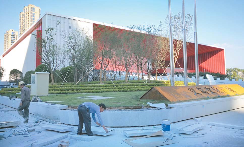义乌文化广场即将竣工