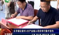 义亭镇缸窑村4大产业植入项目集中签约