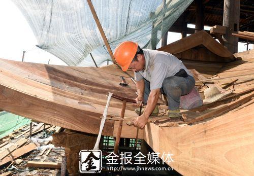 义乌首例大型主体全木古建工程项目进展顺利