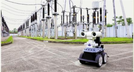 温州上田变电所 机器人巡视员上阵