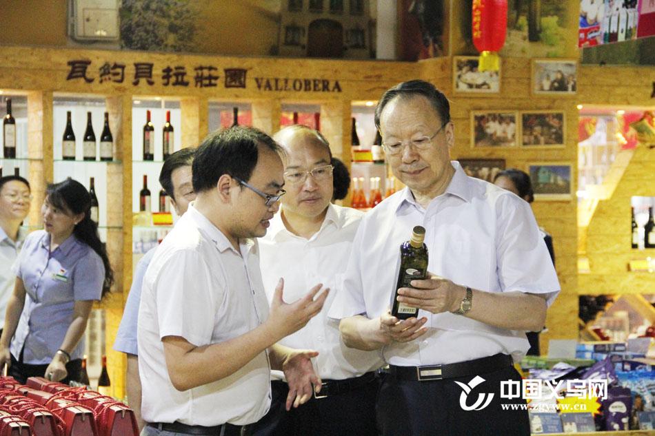 全国政协副主席杜青林来义乌考察