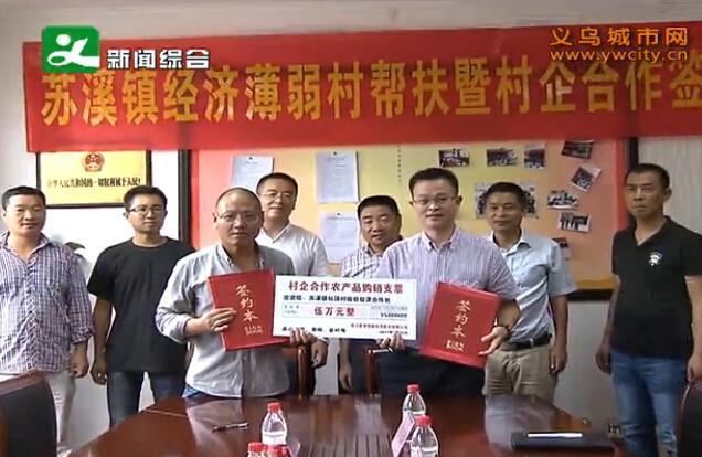 苏溪镇:村企签约合作 助力发展农村经济