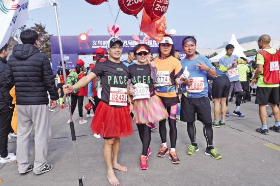 """义乌国际马拉松赛:每个人都是""""义马""""的风景"""