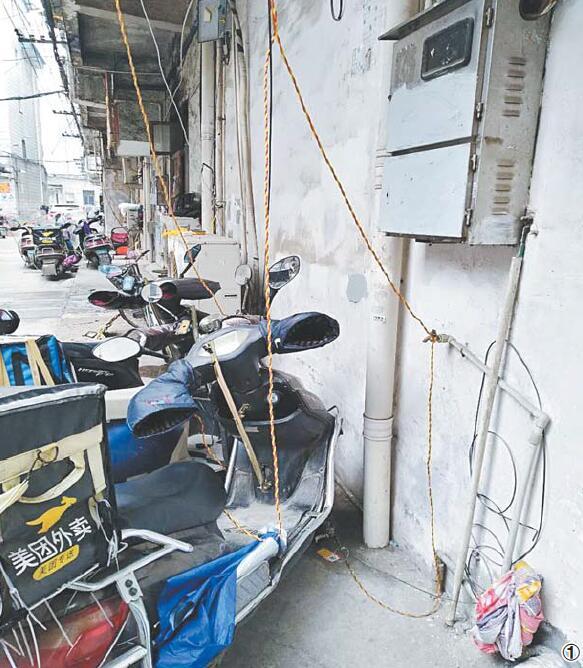 """义乌部分居民小区:""""私拉电线充电""""现象依然普遍"""