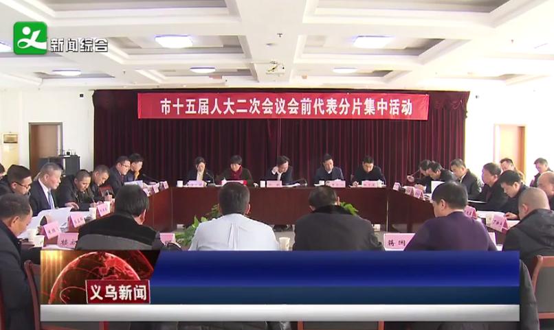 义乌市人大代表开展人代会前分片集中活动