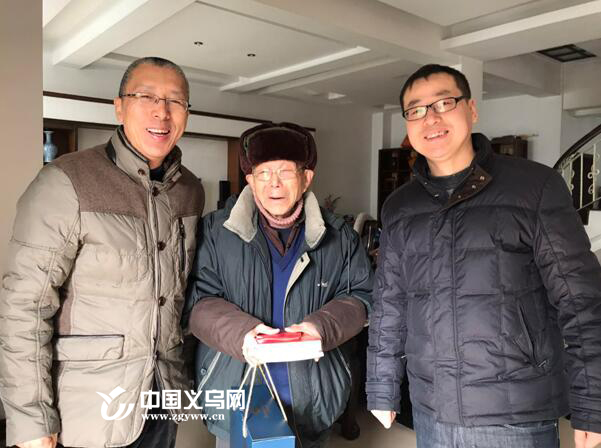 义乌市疾控中心领导春节前走访慰问离退休干部