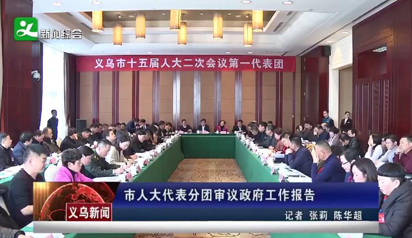 义乌市人大代表分团审议政府工作报告