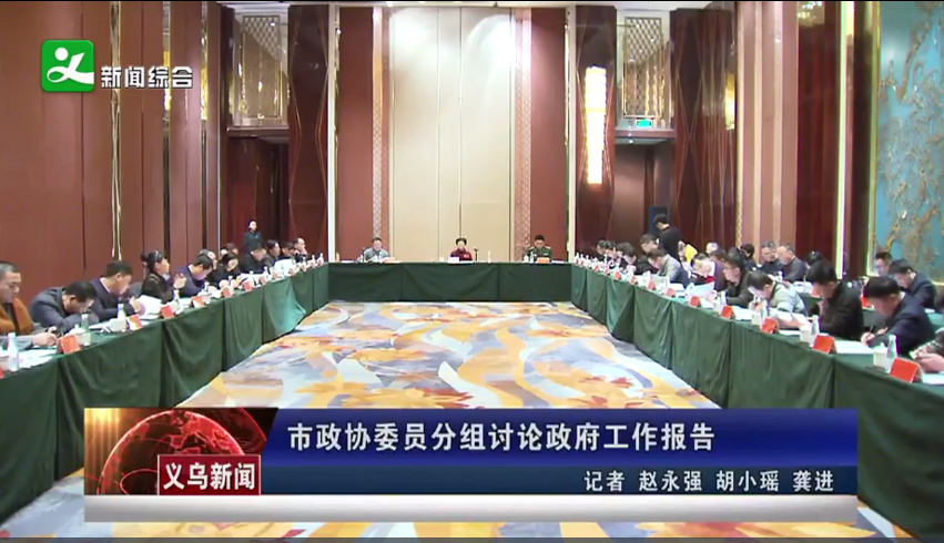 义乌市政协委员分组讨论政府工作报告