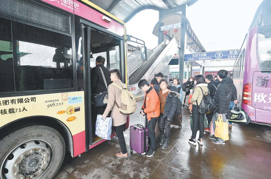 义乌:加班加点疏散客流