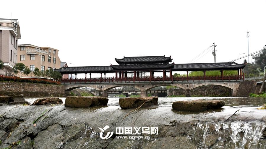 廊桥跨云溪 义乌大陈楂林用廊桥点缀美丽乡村