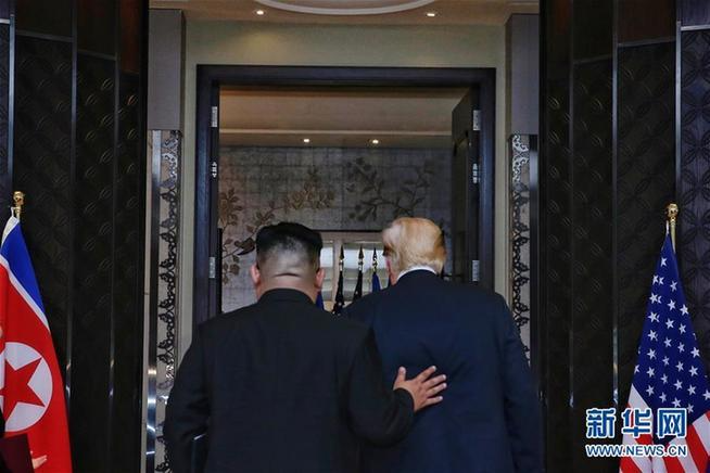 (XHDW)(1)朝美领导人签署联合声明 确定半岛无核和平目标
