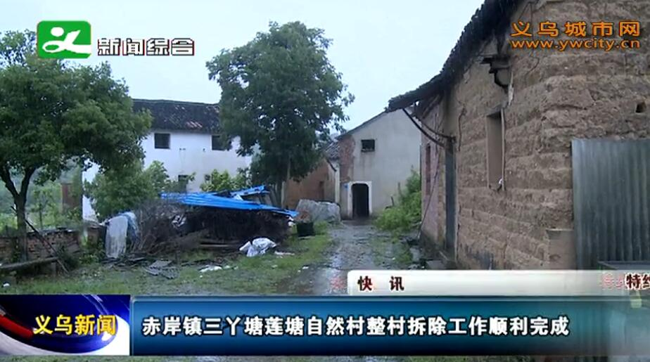赤岸镇三丫塘莲塘自然村整村拆除工作顺利完成