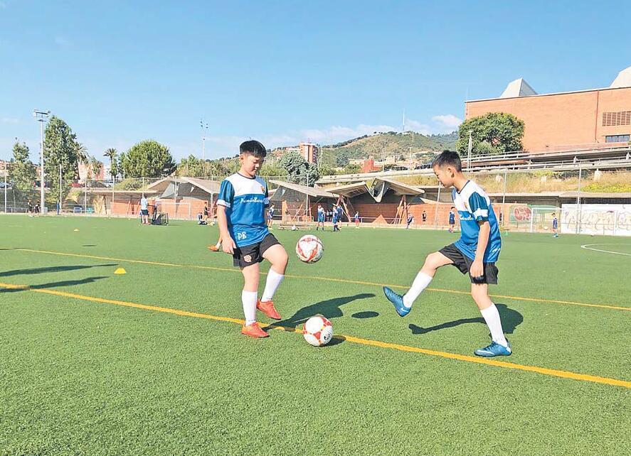 义乌足球小将试训巴塞罗那俱乐部