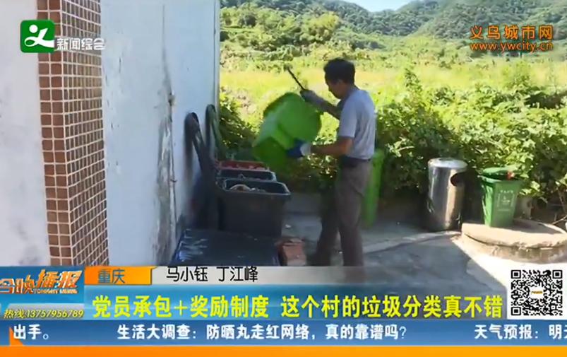 党员承包+奖励制度 义乌这个村的垃圾分类真不错
