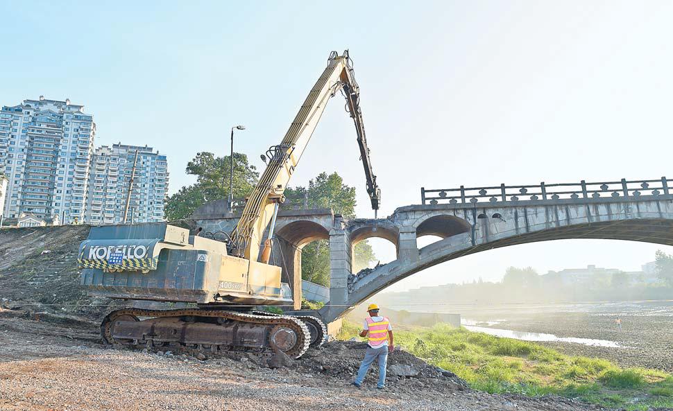 佛堂伏虎桥拆除重建