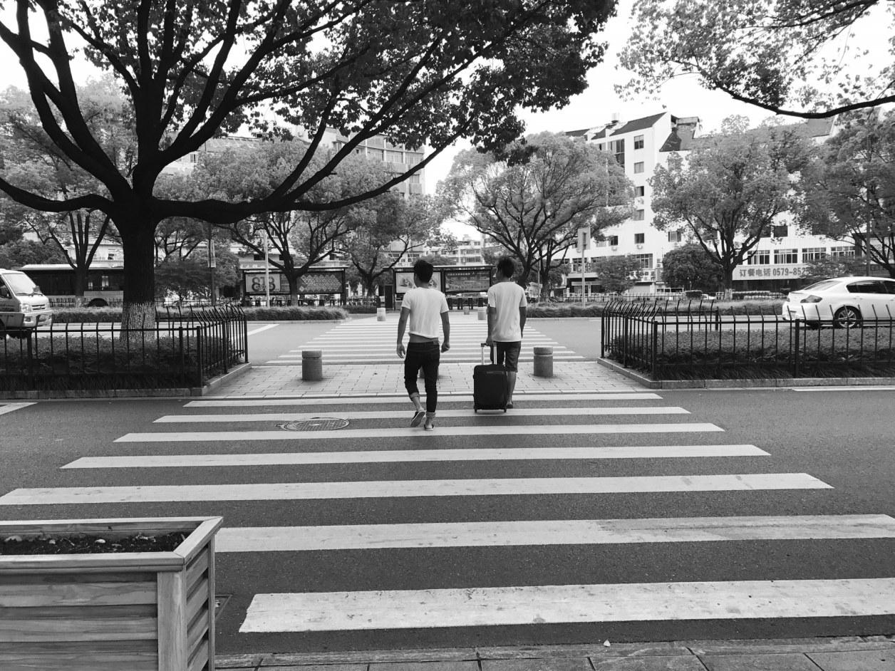 """义乌宾王路上:一条斑马线,两只""""拦路虎"""""""