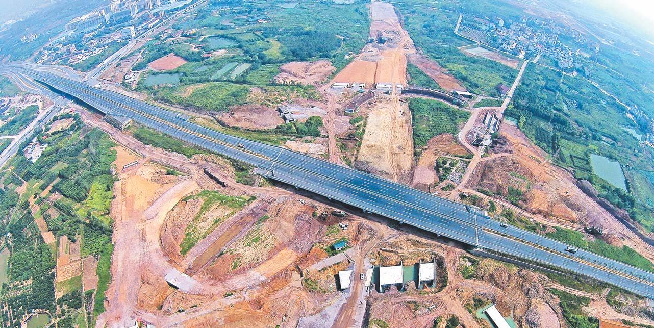 杨梅院枢纽路基工程进展顺利