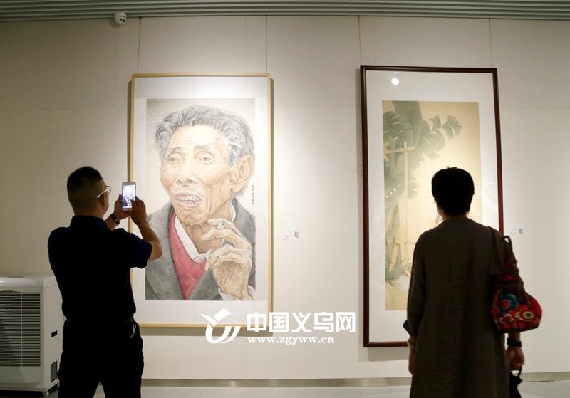 浙江省中国人物画研究会中青年推荐展在义乌举行