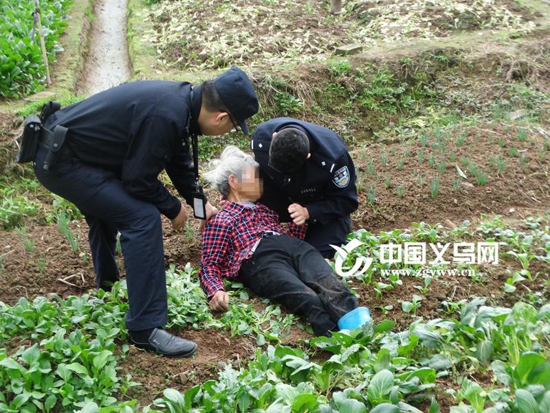 【十八力】82岁老太突发脑血栓 义乌民警一个动作救了一条命