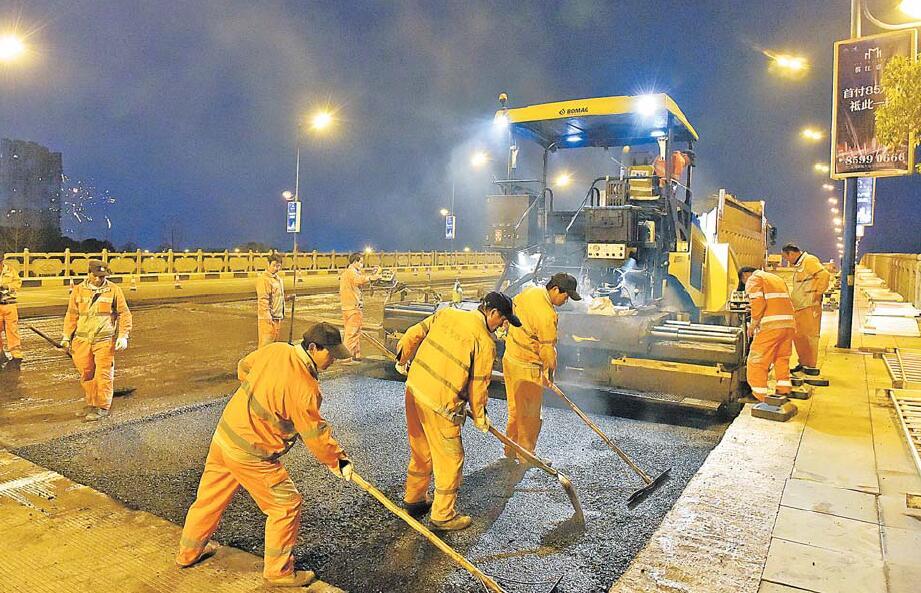 义乌对城区道路桥梁开展综合维护