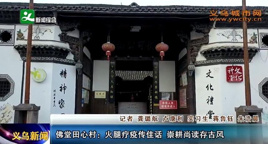 佛堂田心村:火腿疗疫传佳话 崇耕尚读存古风