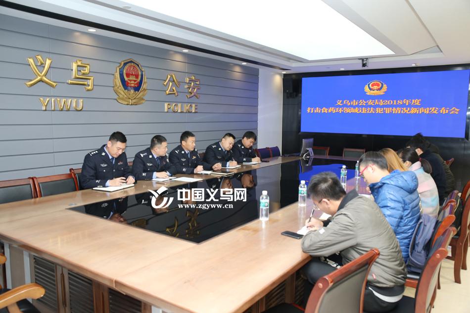 """义乌警方严打""""食药环""""领域犯罪 侦破相关刑事案件116起"""