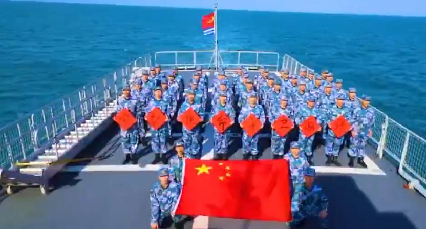 """【微力无穷】海军""""义乌舰""""官兵向义乌市民送上新春祝福"""