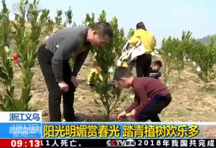 【央视】《新闻直播间》报道浙江义乌后宅街道植树节活动