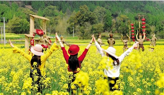 仙居:油菜花开满目春