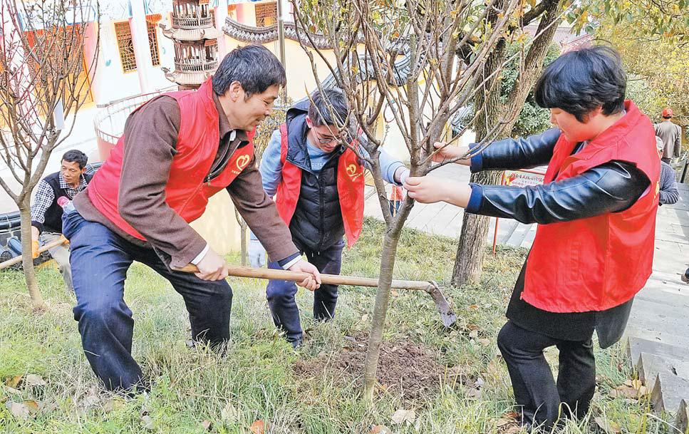 义乌:植树添绿