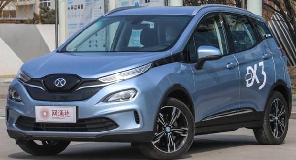 小型SUV也能续航500公里 北汽新能源EX3上市