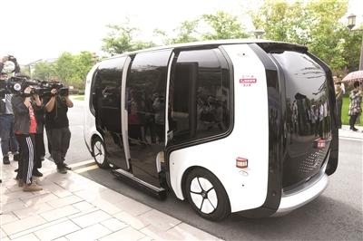国内景区首个5G智能联网无人驾驶车亮相湘湖