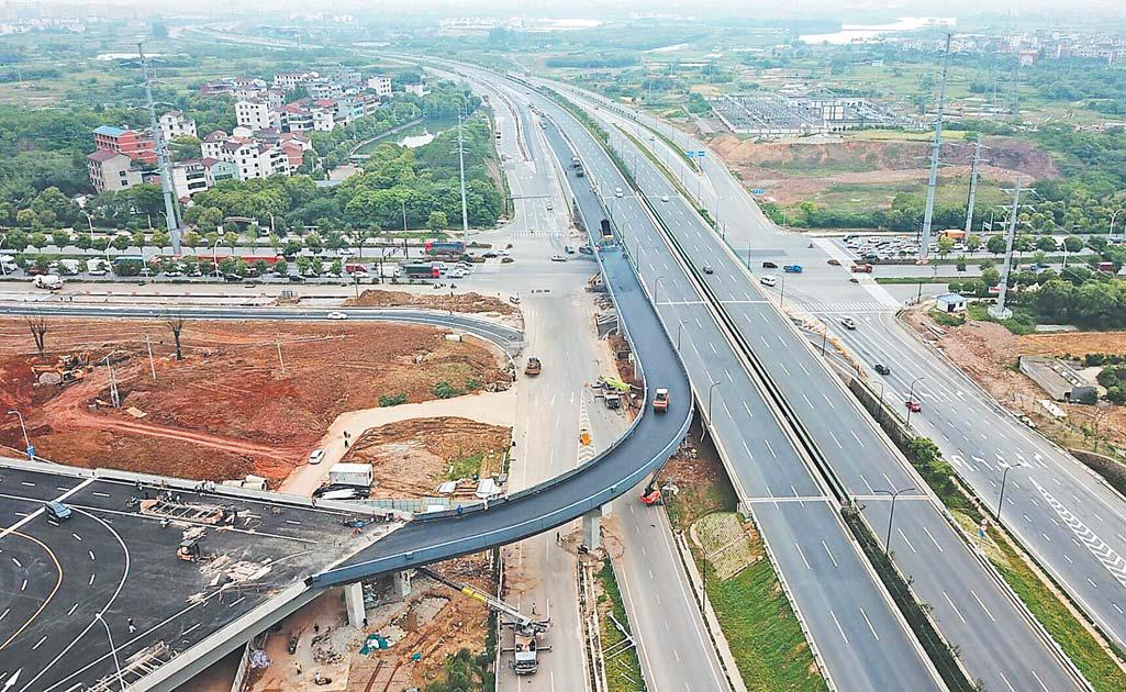 义乌公路港专用通道提前建成