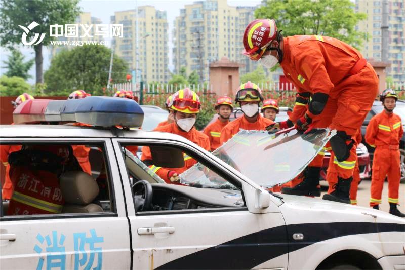 理论与实操相结合 义乌组织全市消防救援队伍开展培训