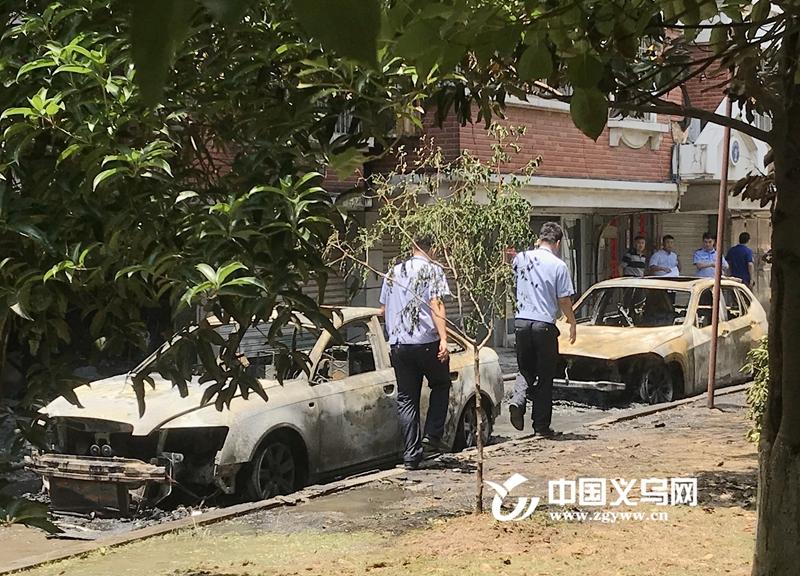 【十八力】楼下汽车自燃 楼上老人被困 义乌热心市民砸窗救人