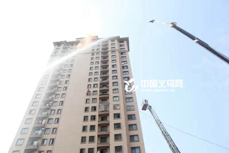 义乌佛堂镇开展高层建筑消防救援演练