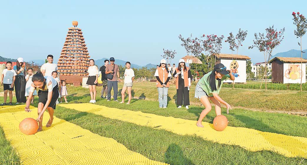 义乌马畈奇幻乐园举办首届南瓜节