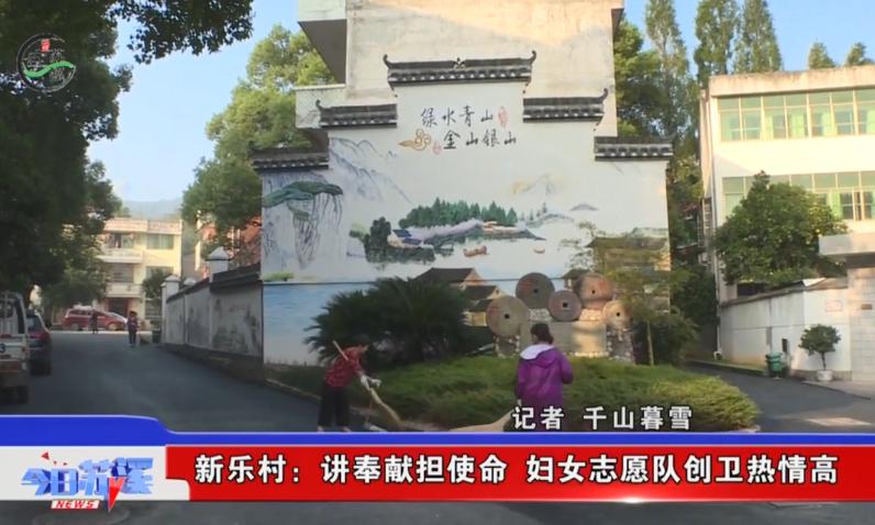 义乌新乐村:讲奉献担使命 妇女志愿队创卫热情高