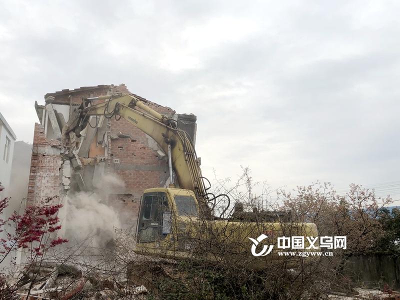 首日拆除1000平方米 杭温高铁征迁工作在义乌启动拆迁