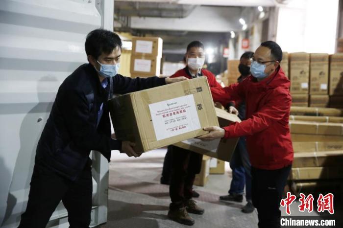 """【中国新闻网】义乌捐赠防疫物资将通过""""义新欧""""发往西班牙"""