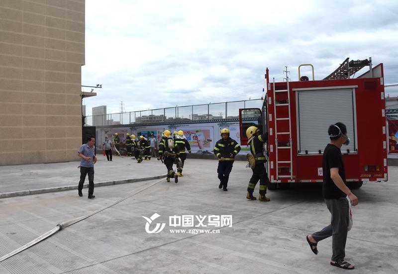 """义乌廿三里街道消防演练进公寓 多方协作共治""""火情"""""""