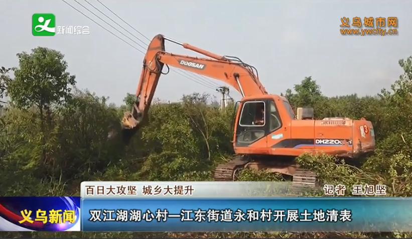 义乌双江湖湖心村―江东街道永和村开展土地清表