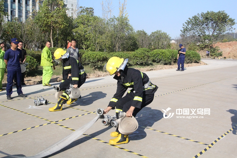 义乌后宅街道举办第三届消防技能竞赛