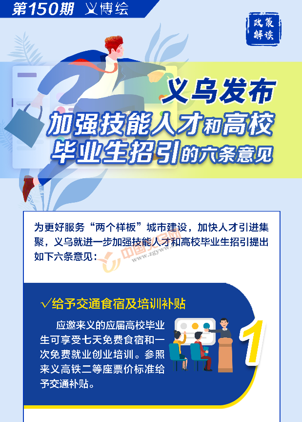 义博绘|义乌发布加强技能人才和高校毕业生招引的六条意见