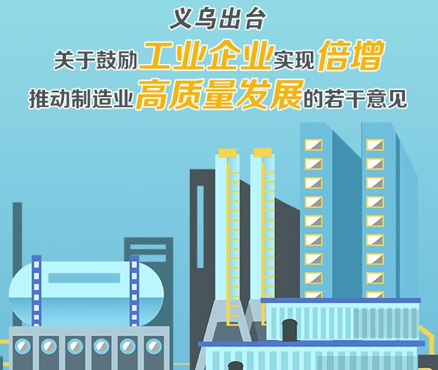 义博绘丨义乌出台关于鼓励工业企业实现倍增 推动制造业高质量发展的若干意见