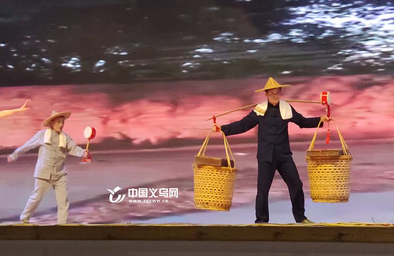 义乌廿三里老街能工巧匠搬上舞台 新编婺剧《逛老街》成功首演